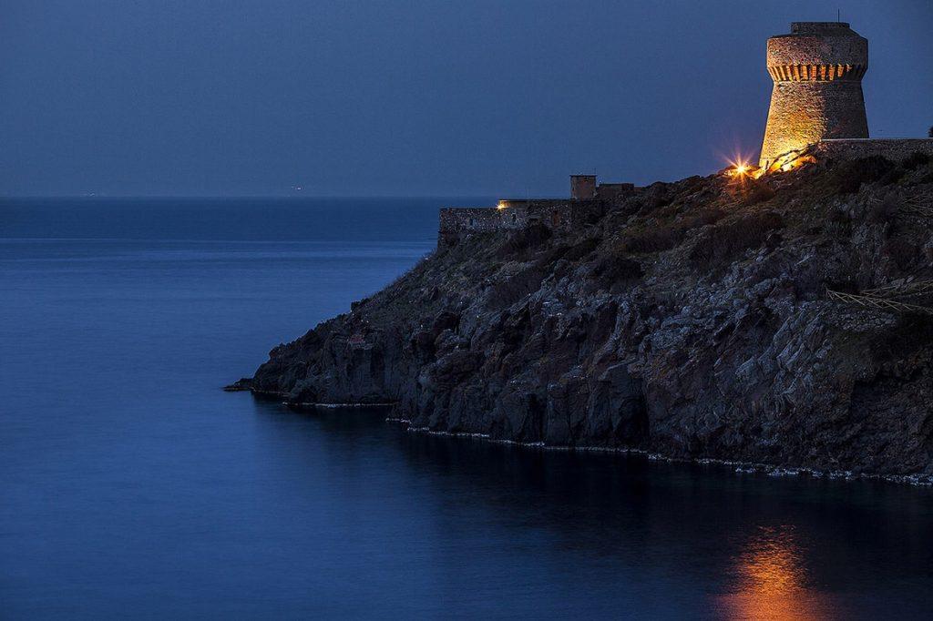 Island of capraia, livorno, tuscany, italy: torre del porto (1516)